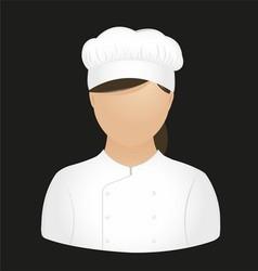 Chef girl vector