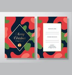 Christmas camo frame abstract invitation vector