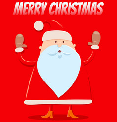 christmas design with funny cartoon santa vector image
