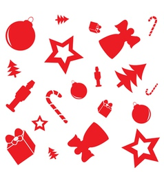 Christmas pattern with gifts candy canes angels vector