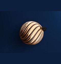 christmas tree golden ball toy realistic vector image