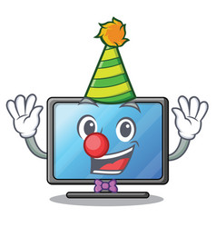 clown lcd tv isolated with the character vector image
