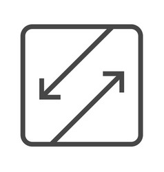 Competing interests thin line icon vector