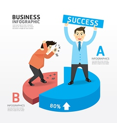 Concept of successful businessman cartoon vector image