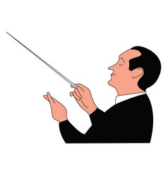 conductor on white background vector image