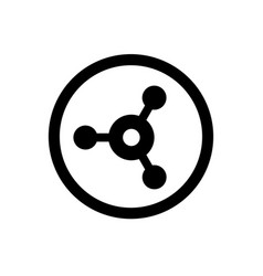 connection symbol share sign vector image