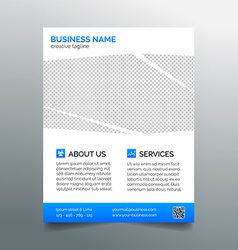 Corporate business flyer template - light blue vector