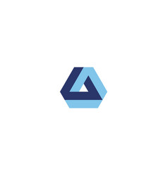 creative triangle logo design inspiration vector image