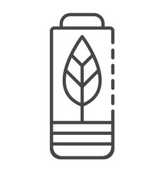 eco battery icon outline style vector image