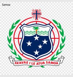 Emblem of samoa vector