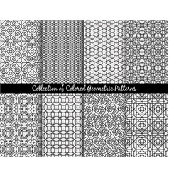 ethnic decorative oriental patterns set vector image