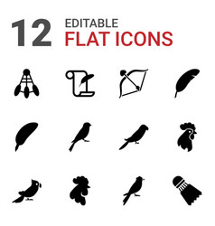 Feather icons vector