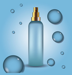 fragrance product bottle vector image