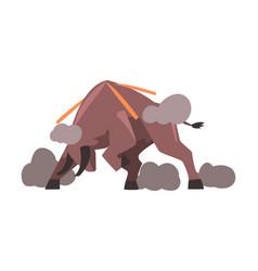Furious bull spanish corrida traditional vector