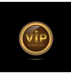 Golden VIP label vector