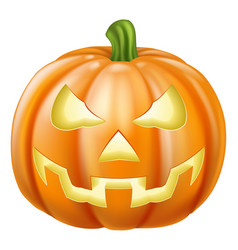 Halloween carved pumpkin vector
