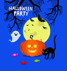 halloween poster flyer banner or background vector image