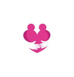hand care icon template vector image