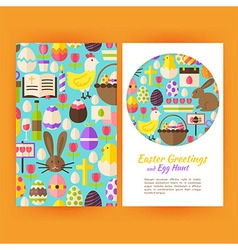 Happy Easter Flyer Templates vector