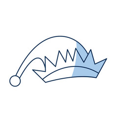 Hat of elf wear christmas icon line vector
