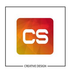 Initial letter cs logo template design vector