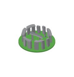 isolated stonehenge isometric england vector image