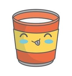 Juice glass kawaii style isolated icon vector