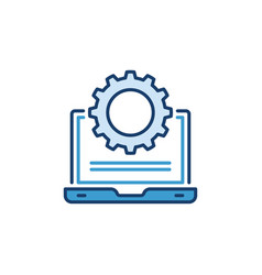 laptop with cog wheel concept icon vector image