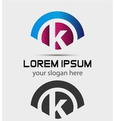 Letter K Logo Design Creative Symbol of letter K vector