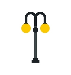 Light pole icon in flat style vector