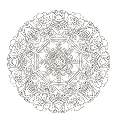 Mandala oriental pattern traditional coloring vector