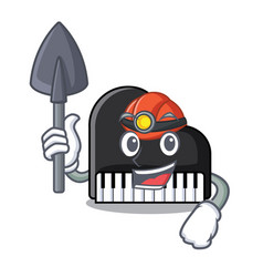 miner piano mascot cartoon style vector image