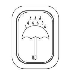 monochrome contour logistic with icon keep dry vector image