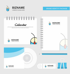 mouse logo calendar template cd cover diary and vector image