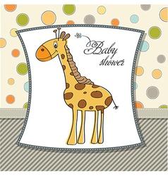 New baannouncement card with giraffe vector