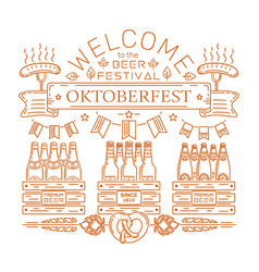 Oktoberfest design welcome to the beer festival vector