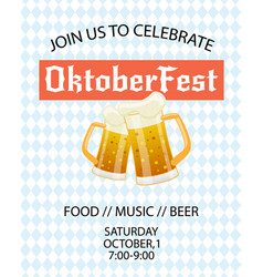 oktoberfest festival advertisement poster template vector image