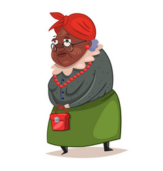 Older black woman character vector