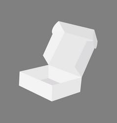 open blank carton pizza box isolated on gray vector image