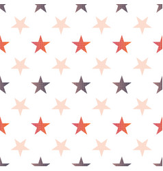 orange brown fall stars linen repeat pattern vector image