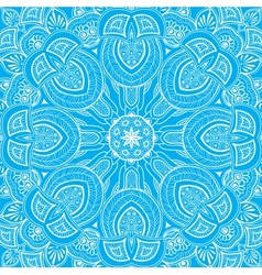 Ornamental round lace background 3 vector image