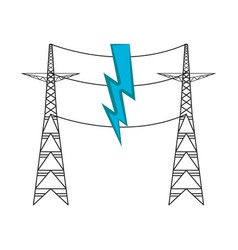 pair of electrical towers vector image