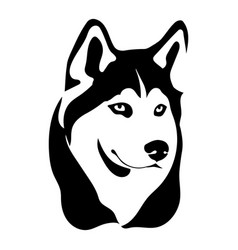 Portrait of a dog of the husky vector