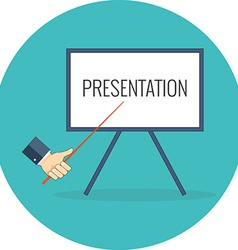 Presentation training seminar concept Flat design vector image