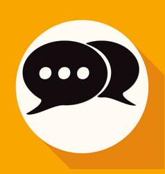 Retro style bubble speech icon on white circle vector