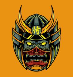 samurai oni mask vector image