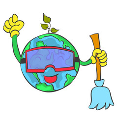 save world from healthy vector image