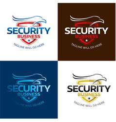 security hawk logo vector image