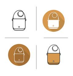 Shoulder bag icon vector