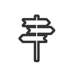 Signpost icon graphic design template vector
